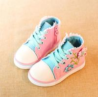 2016 Spring Autumn Summer Girls Sneakers Canvas Shoes For Children Cute Dots Kids Shoes Candy Color