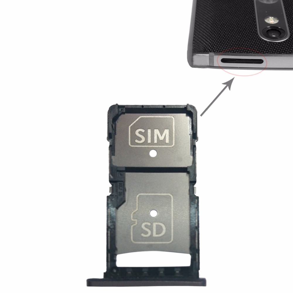 NEW SIM Card Tray + Micro SD Card Tray For Motorola Droid Turbo 2 / XT1585