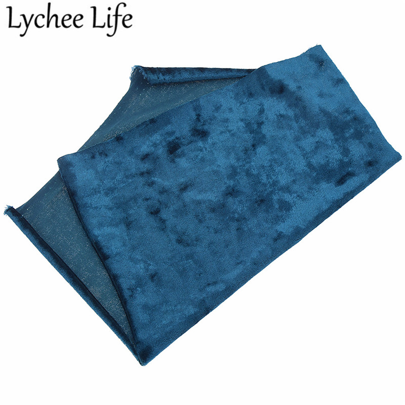 Lychee Life A4 Polyester Spandex Velvet Fabric 29x21cm Colorful Flexible Cloth Fabric DIY Handmade Sewing Accessories Supplies in Fabric from Home Garden