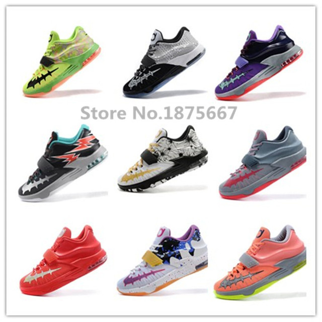 new style 754a1 3f4a0 top quality cheap 2015 Kevin Durant Basketball Shoes Sneakers mvp kd 7 kd  shoes foamposites athletic sport size 40-46