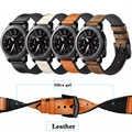 Кожаный ремешок для Gear S3 Frontier Samsung Galaxy watch 46 мм 42 м huawei watch gt ремешок 22 мм ремешок для часов correa браслет ремень 20 мм