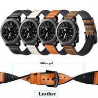 Correa de cuero para Gear S3 Frontier Samsung Galaxy watch 46mm 42m huawei reloj gt correa 22mm correa 20mm