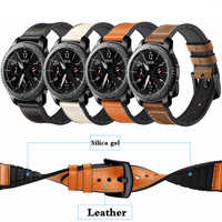 Leather strap For Gear S3 Frontier Samsung Galaxy watch 46mm 42m huawei watch gt strap 22mm watch band correa bracelet belt 20mm