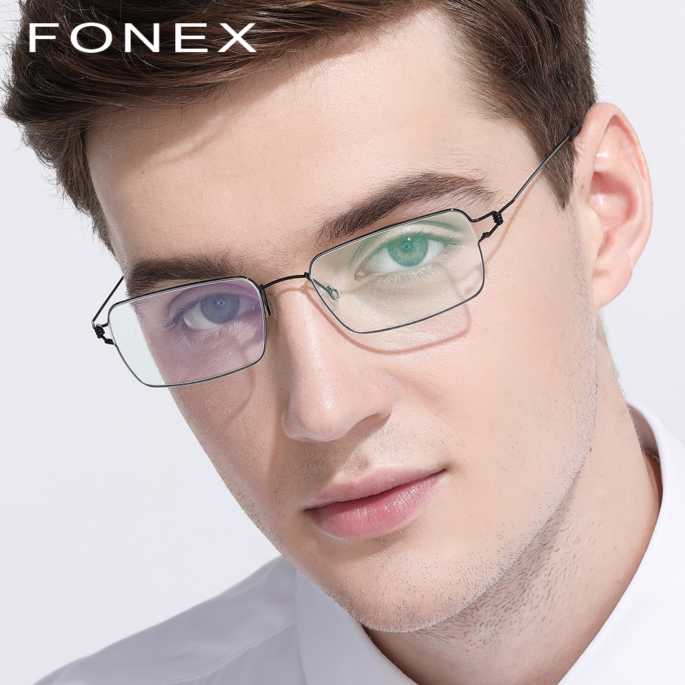3fa4d62139f Titanium Glasses Frame Men Prescription Eyeglasses Korean Denmark Women  Brand Designer Myopia Optical Frames Screwless Eyewear-in Eyewear Frames  from ...
