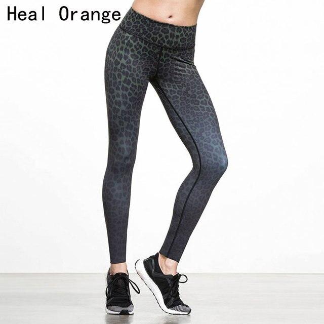 GUARIRE ARANCIONE Donna Sport Legging Sexy Del Leopardo Stampato Pantaloni  di Yoga Plus Size Fitness Pantaloni 0fc3f4d618e