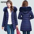 New Arrivals Long Winter Jacket Women 2016 Hooded Thick Warm Cotton Parkas Women Winter Coat Female Female Manteau Femme