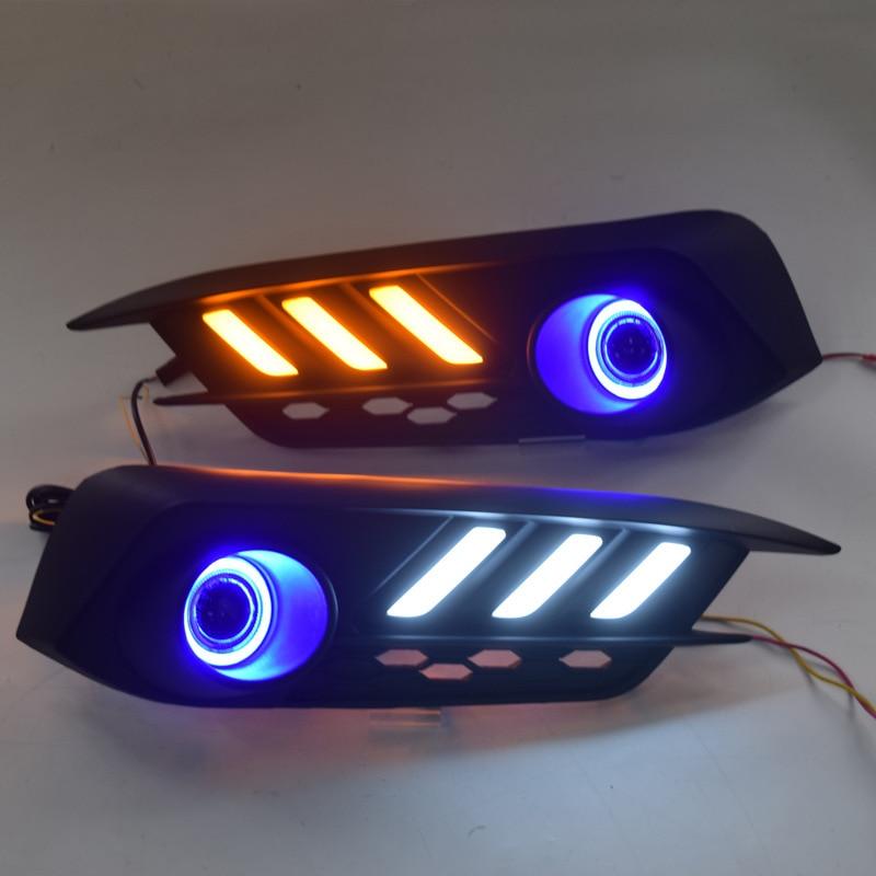 Car LED Daytime Running Light Fog Light Replacement for Honda 10th Generation Civic 2016-2018