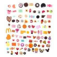 Kitchen-Decoration Biscuit Dollhouse Miniature Donuts Cakes Food-Set Children 10pcs