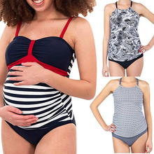 pregnant plus size swimsuit women sexy print cotton two piece swimwear white bikini summer brazilian biquini bathing suits