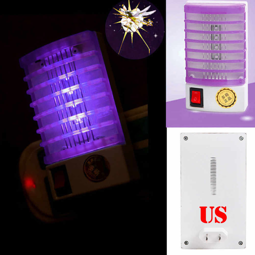 New Electronic Mosquito Killer LED Socket Electric Mosquito Fly Bug Insect Trap Killer Zapper Night Lamp Lights Lighting US Plug