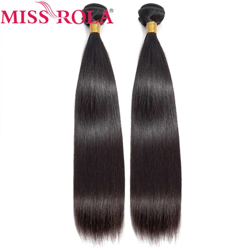 Nona Rola Brasil Rambut Menenun Warna Alami 1/2 Bundel Tidak Remy Rambut Manusia 100% Ekstensi Rambut Lurus Bundel