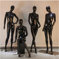 Fashionable Hot Sale Best Quality Black Female Mannequin Fiberglass Full Mannequin Women Model Made In China