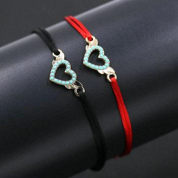 Bracelet Commun Couple Rouge et Noir