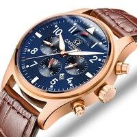 Carnaval de la marca de lujo de los hombres relojes Japón MIYOTA automático reloj mecánico para hombre él Gas 150M impermeable reloj multifunción C8675-7