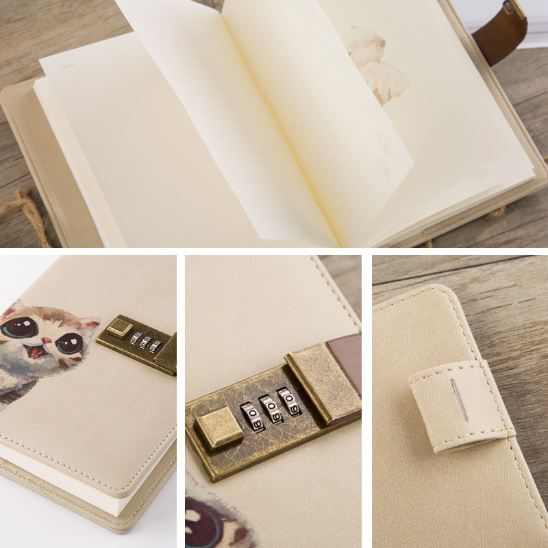 Cute Secret Diary Notebook with Lock Personal Diary Journal with Lock Thick Filofax School Office Stationery Agenda 2019 Planner