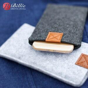 Image 5 - Sac de téléphone en laine feutre enveloppe sac à main sac pour iphone XS étuis couverture téléphone Mobile sacs faits à la main pour iphone xs max 6.5 pouces gris