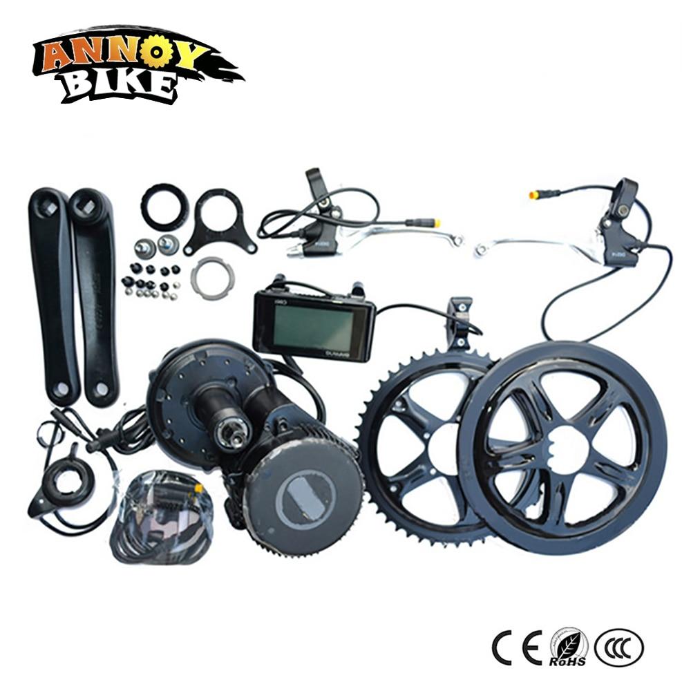 Free shipping powerful 48v 500w wheel motor 8fun bafang crank drive motor kits electric bicycle bike conversion kit