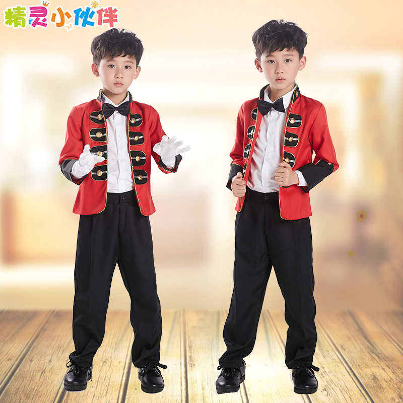 2016 Limited Time-limited Minnie Mouse Children's Clothing Sketch Mime Boy Costumes Dance Stage Performance Suits Size 100-160 limited