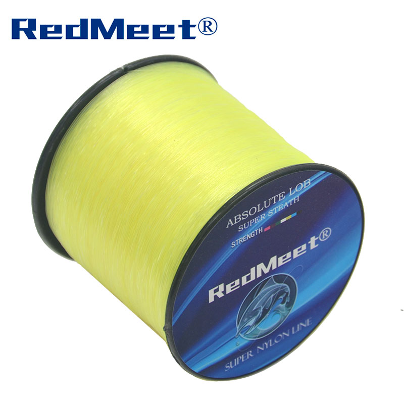 Hot Sale 1Pcs 1000m New Brand RedMeet Series Super Strong Japan Monofilament Nylon Fishing Line 1000m 4.4-28.6LB