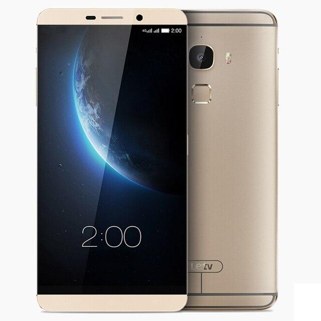 Оригинал Пусть V Le Макс 64 ГБ Мобильный Телефон 6.33 дюймов IPS Экран EUI OS Snapdragon 810 Окта основные 4 ГБ RAM 21MP Камера Заднего Вида 3400 мАч LTE 4 Г