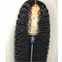 Вьющиеся натуральные волосы Искусственные парики для женщин с ребенком волос 13*6 кружево Фрон t парик предварительно сорвал натуральн