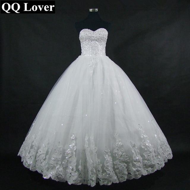 QQ Lover 2018 Wedding Dress Sleeveless Elegant Princess Wrapped ...