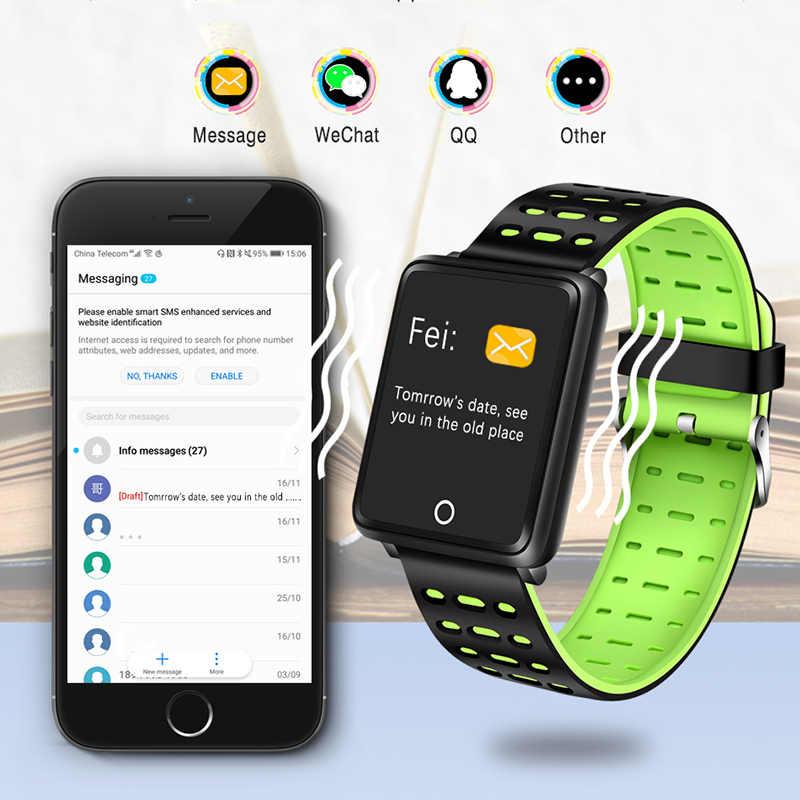 WISHDOOIT スマート腕時計メンズ深さ IP68 防水血液酸素心拍数モニターカロリー歩数計情報思い出させるスポーツウォッチ
