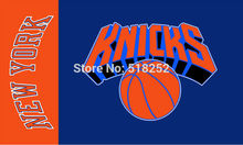New York Knicks Flag  3×5 FT 150X90CM Banner copper grommets Polyester NBA flag 138,  free shipping