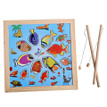 Children Magnetic Fishing Rod Fish Model Bath Fun Toy Set Cartoon Baby Wooden Puzzle Magnetic Fishing Game Toy FCI#