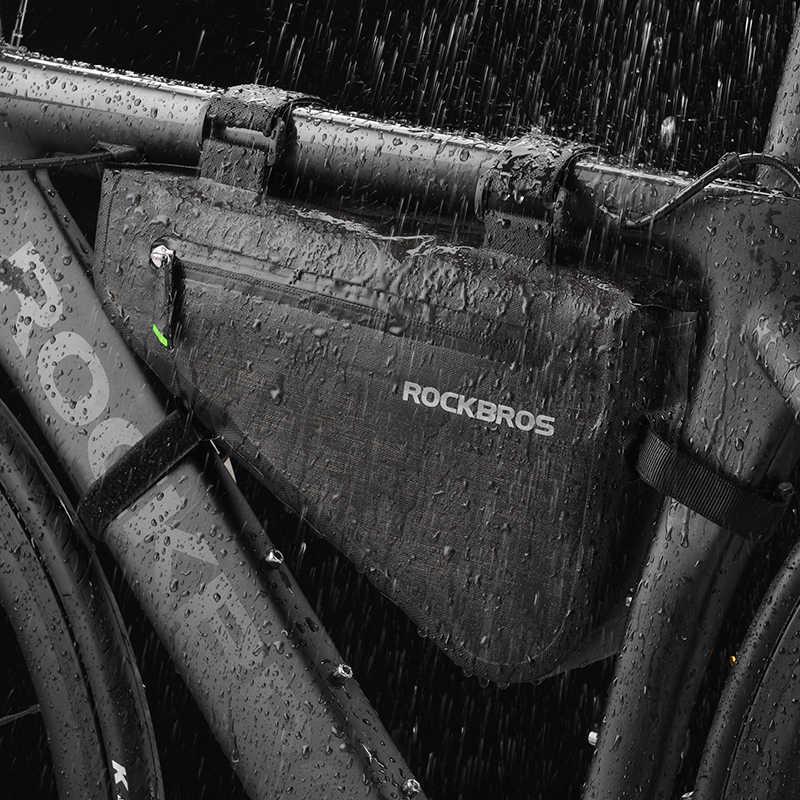ROCKBROS MTB Estrada Da Bicicleta Da Bicicleta Saco Impermeável Grande Capacidade Saco Quadro Triângulo Bolsa Calafetagem À Prova D' Água Saco Pannier Acessórios