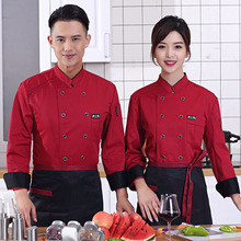 Autumn and Winter Chef Jacket Cook Coat Restaurant Kitchen Chef Uniform Comfortable Working Clothes Chef Uniforms Tooling