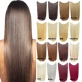 Paidian Thin 22inch Straight Fish Line Hair Extensions Synthetic halo Hair HairPieces One Piece Heat Resistance Fiber 16 colors