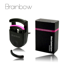 Brainbow 1pc Black Eyelash Curler Plastic Portable Eye Lash Curler Natural Curling 3D Fiber Eyelashes Applicator Eye Makeup Tool