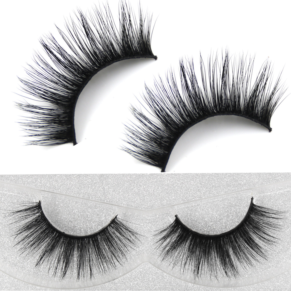 YOKPN False Lashes Natural Curl 3D Eyelash Soft Comfortable Long Fake Eyelashes Crisscross Volume Mink Hair Eye Lashes Nature