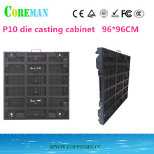 aluminum p10 rental cabinet 960*960mm p10 led display cabinet led video wall outdoor p6p8p10