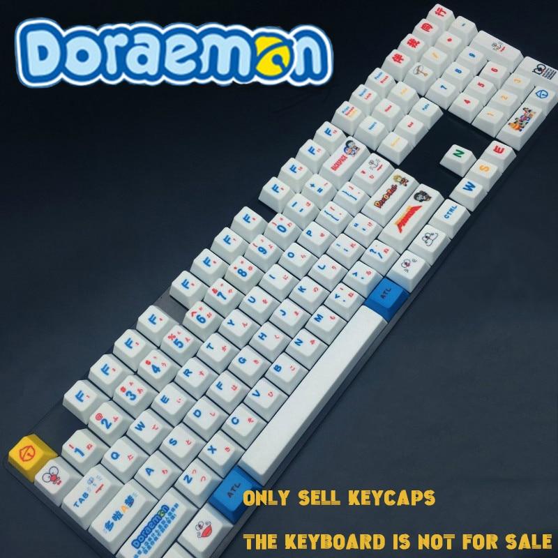 112key Japonés Pbt Doraemon De Sublimación De Calor Keycap Juego Personalidad Teclado Mecánico Teclas Para Gauss Ikbc Skua Cerezas Los Clientes Primero