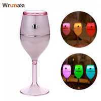 Wrumava 7 Color LED Night Light Oil Diffuser Mist Adjustable Wine Glass Style Aromatherapy Cool Mist