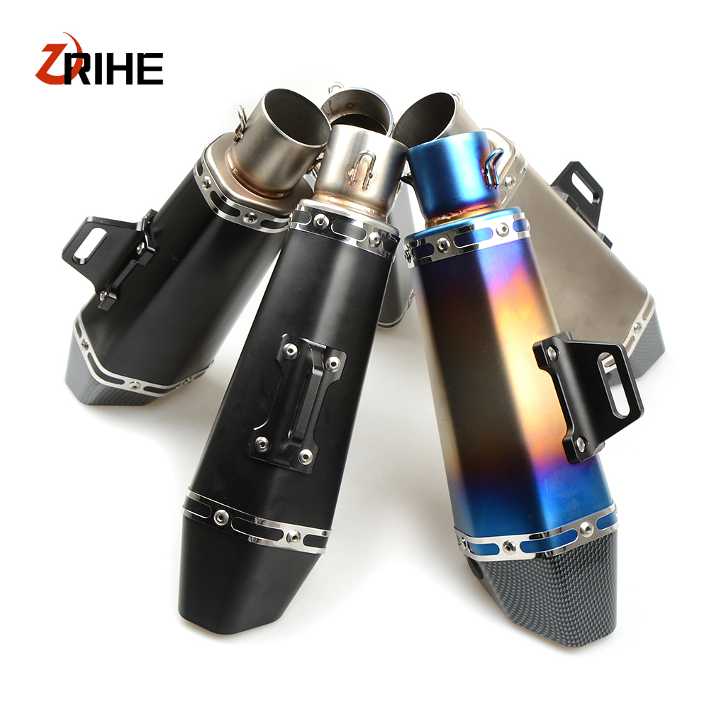 36-51mm Universal CNC Motorcycle Exhaust Pipe With Muffler For Honda cb600 hornet CB919 cbr 600 f2 /cbr 600 f3/ cbr 600 f4 36 51mm motorcycle universal exhaust pipe muffler for suzuki sv650 gsf katana hayabusa honda shadow 600 750 1100 cbr 125r