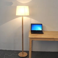 Solid Wooden Nordic Simple Solid Wood Foot Standing Lamp Japanese Living Room Bedroom Study Table Bedside
