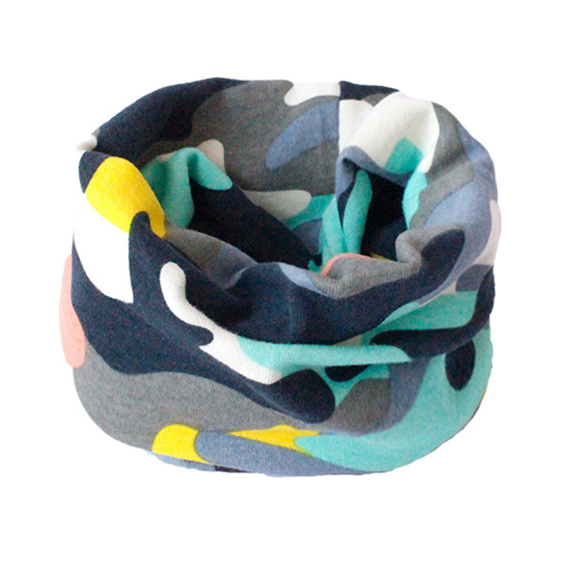 Весенний детский хлопковый шарф, теплый шарф для маленьких детей, осенне-зимние шарфы с героями мультфильмов для мальчиков и девочек, детский воротник с круглым вырезом, волшебный шейный платок - Цвет: 15