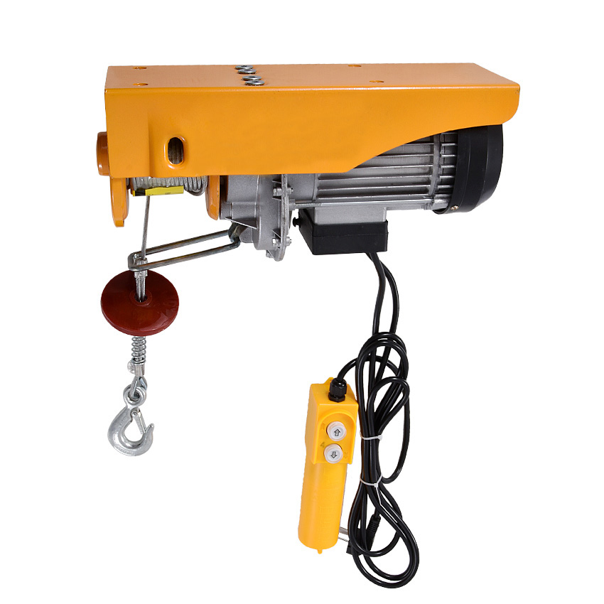 PA400 Mini Electric Hoist Crane Portable 200-400kg 12 Meters Small Home Crane Renovation Crane 110V/220V 950W 12m/min Hot Sale