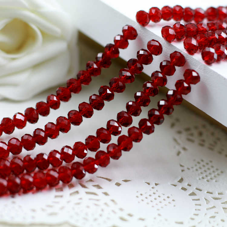 5040 AAA Top Quality  Dark Red Color Loose Crystal Glass Rondelle beads.2mm 3mm 4mm,6mm,8mm 10mm,12mm Free Shipping!