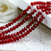 5040 AAA Top Quality Dark Red Color Loose Crystal Glass Rondelle Beads 2mm 3mm 4mm 6mm