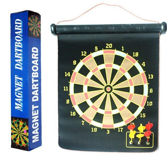 2 Side 15 inch Magnetic Indoor Sport Double target Nerf Dart Gun Flocking  Dartboard 6 Darts