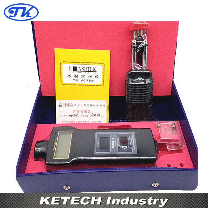 MC-7806 Pin Type Moisture Meter For Tobacco, Cotton Paper, Building, Soil portable pin type wood moisture meter mc7806