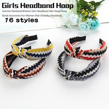 Beach style Summer Fashion Knot Hairband Women Girls Headband Hoop Accessories For Hair Scrunchy Headdress