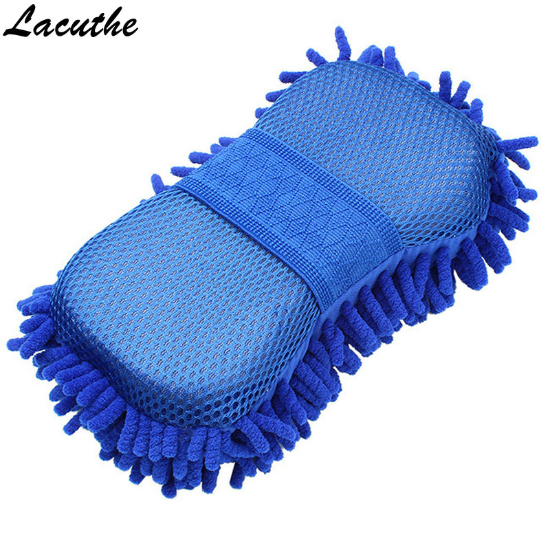 Hot Car Wash Gloves Car Cleaning Sponge Car Window Cleaning Ultrafine Fiber Chenille Anthozoan Washer Sponge Brush Supplies