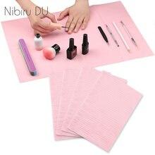 Складной лак для ногтей одноразовый держатель подушек рук скатерть