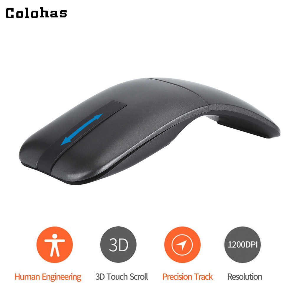 2 4G USB Wireless+Bluetooth Folding Mouse Rechargeable