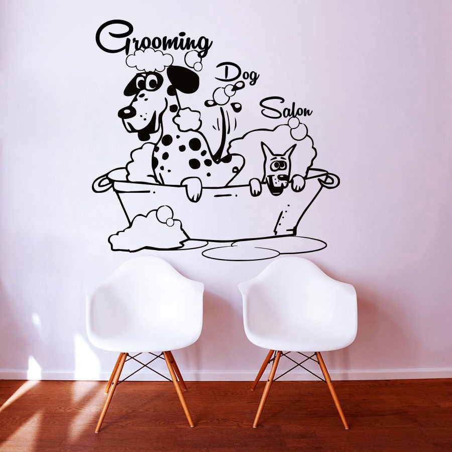 Compare prices on dog grooming salon online shopping buy - Stickers deco salon ...